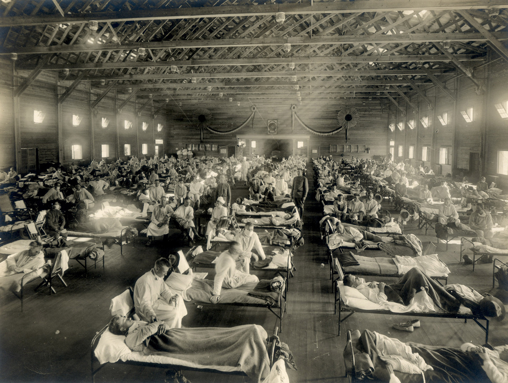 Spanyolnátha kórház az Egyesült Államokban