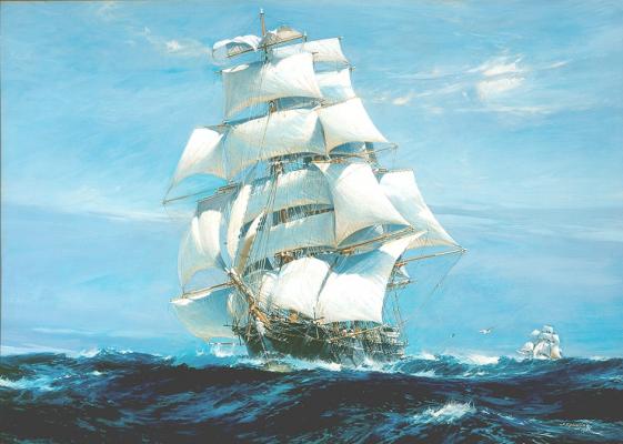 A Teaping és az Ariel 1866-os versenye Jack Spurling festményén