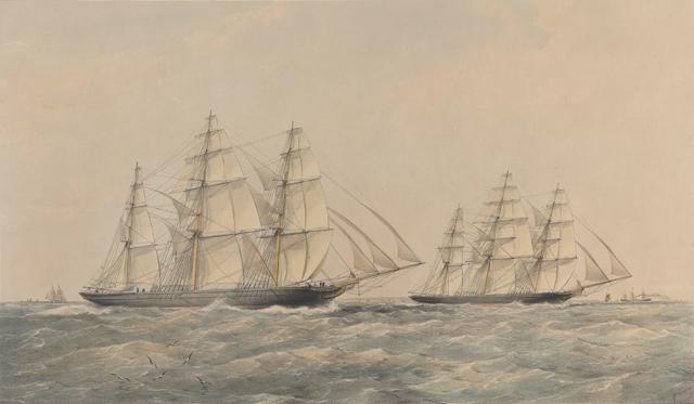 Az 1866-os vetélkedés Thomas Goldsworthy Dutton képén