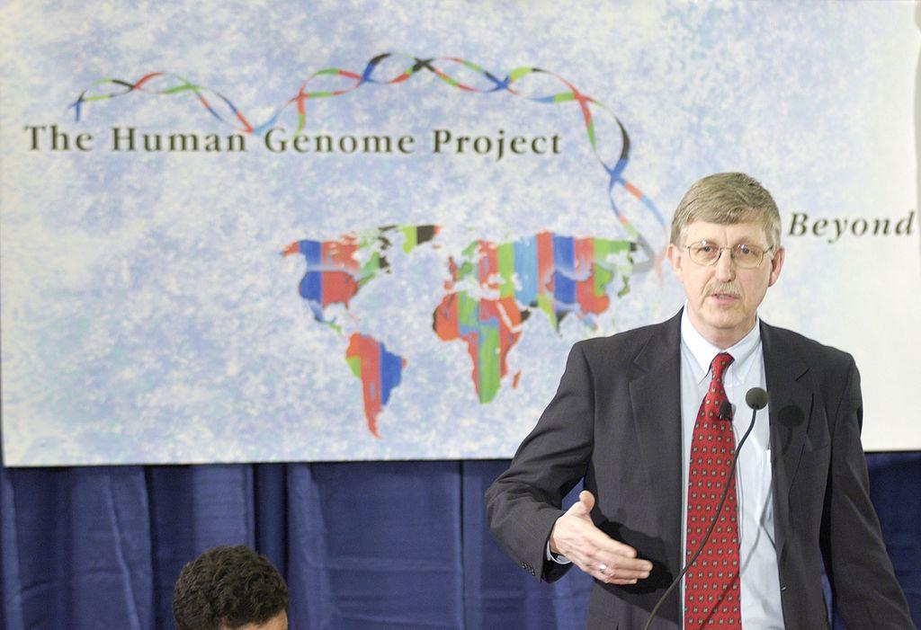 rancis Collins 2003-ban bejelenti az emberi genom feltérképezését