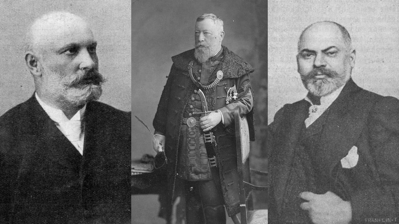 Hauszmann Alajos, Thék Endre, Roskovics Ignác portréi