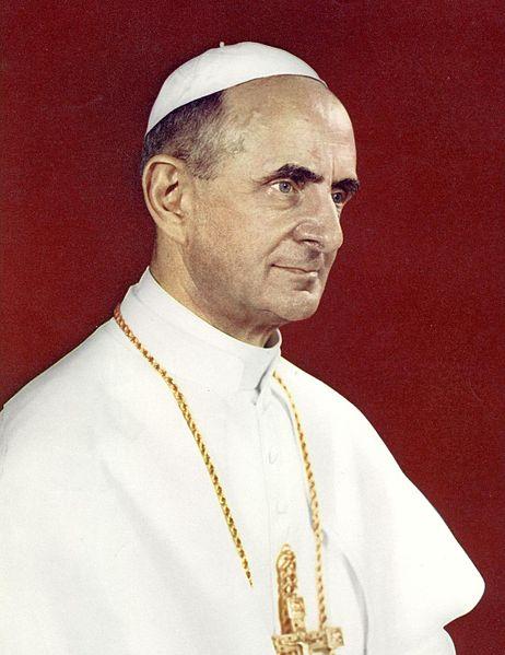 Battisat Montini, VI. Pál pápa Forrás: Wikipedia
