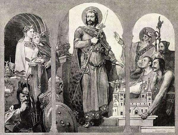 Szent István a keresztény vallást hirdeti